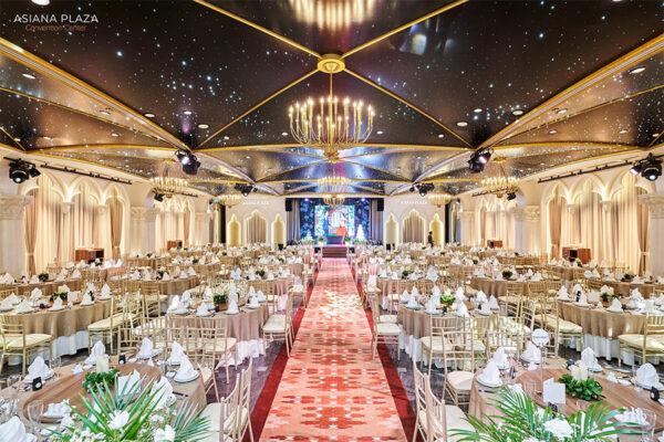 Trung tâm tiệc cưới cao cấp Asiana Plaza được nhiều cặp đôi yêu thích