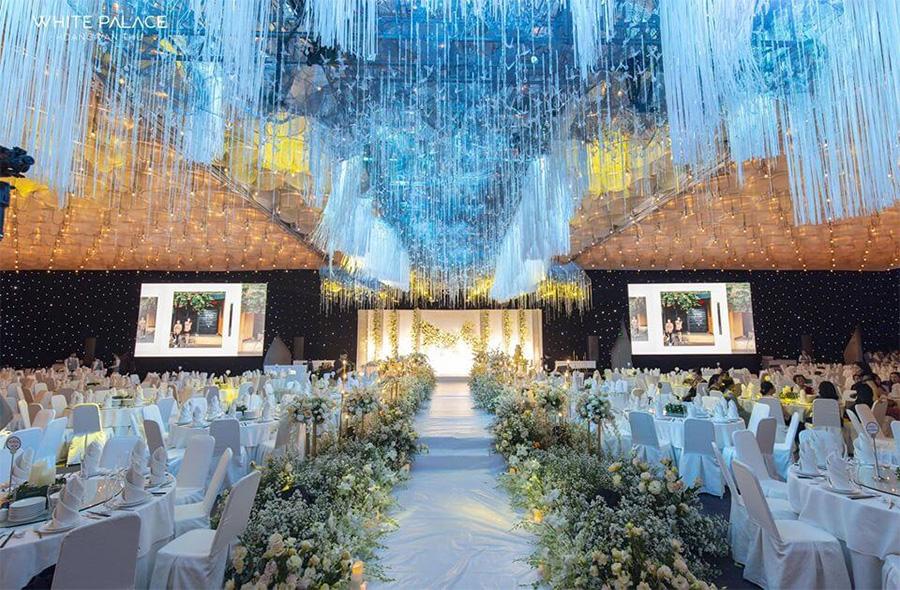 Không gian nhà hàng tiệc cưới White Palace tại TPHCM