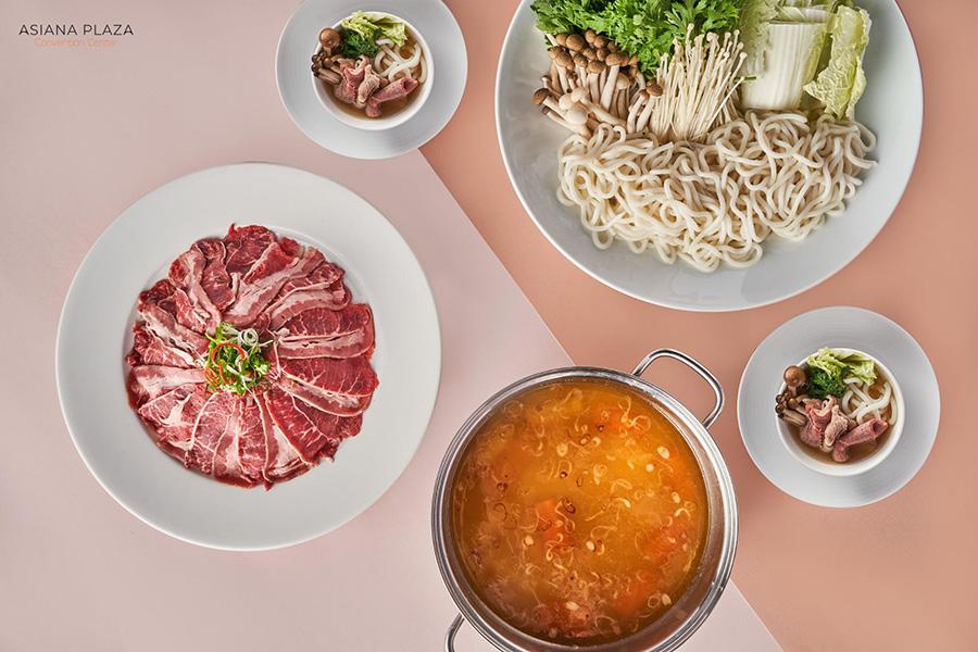 Thưởng thức hương bị món lẩu bò miso - mì Udon