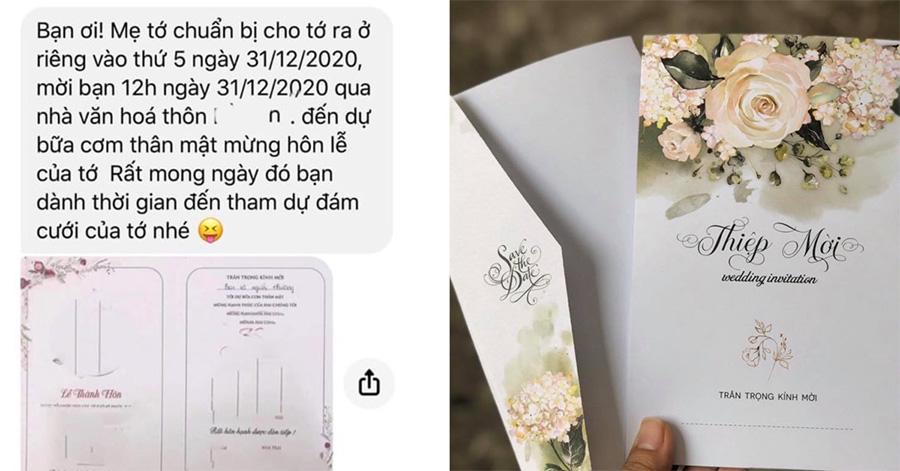Mẫu tin nhắn mời đám cưới tham khảo