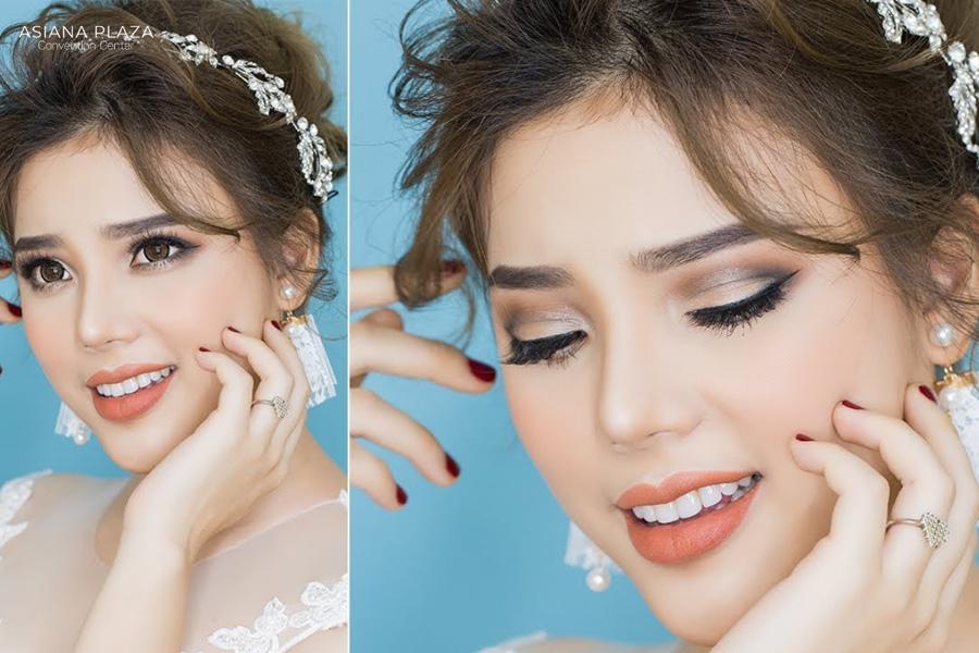 Phong cách trang điểm Tây giúp cô dâu trở nên nổi bật hơn