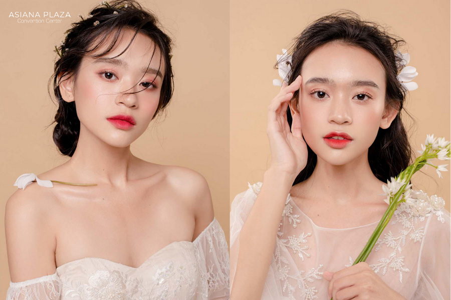 Phong cách trang điểm giúp các cô dâu trở nên tươi tắn và dễ thương